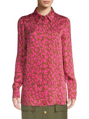 ESCADA SPORT Pink Cheetah Print Blouse