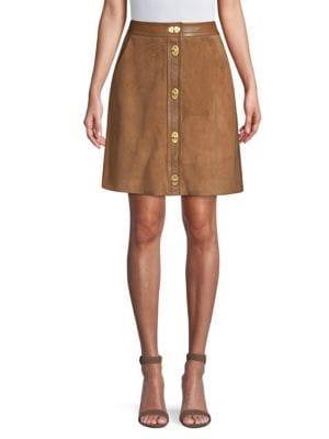 ESCADA SPORT Suede A-line Skirt