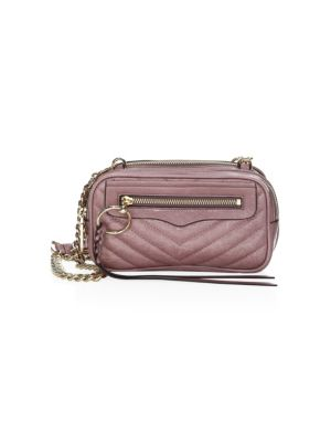 Quilted Mini Leather Crossbody Bag