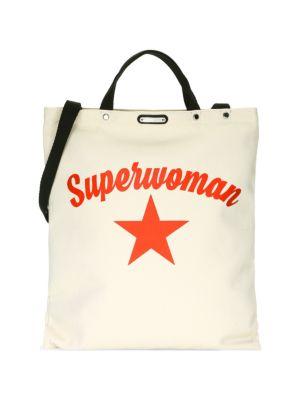 Large Superwoman Canvas Tote