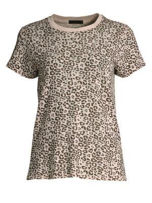 ATM ANTHONY THOMAS MELILLO Leopard Slub Cotton Tee