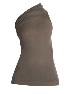 One-Shouldered Cashmere Tee