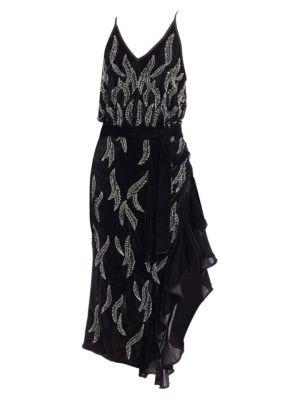 DODO BAR OR Agenes Embellished Chiffon Midi Dress
