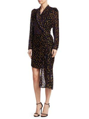 DODO BAR OR Ava Leopard-Print Mini Wrap Dress