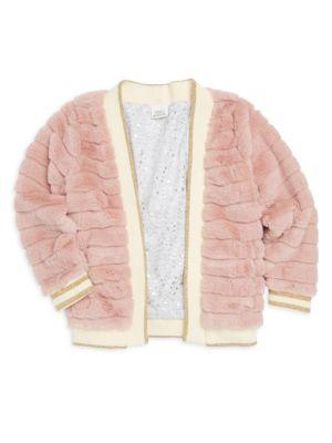 Little Girl's Reversible Faux Fur Julia Jacket