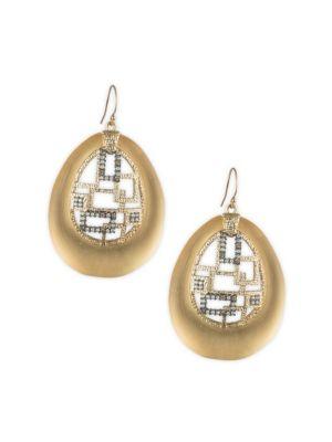 Brutalist Butterfly Crystal Drop Earrings