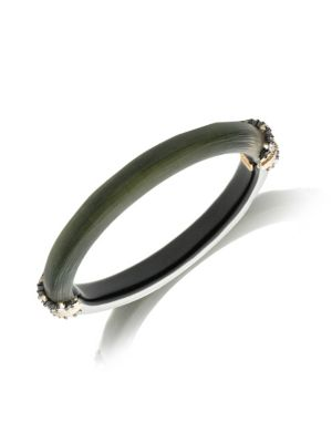 ALEXIS BITTAR | Brutalist Butterfly Crystal Capped Hinge Bracelet | Goxip