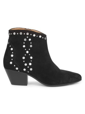 Dacken Embellished Suede Ankle Boots