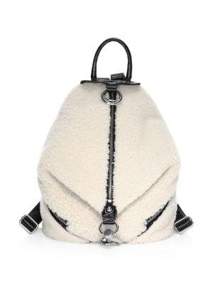 Julian Shearling Side-Zip Backpack