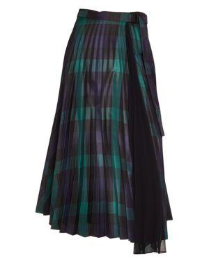 Sunshine Plaid Midi Skirt