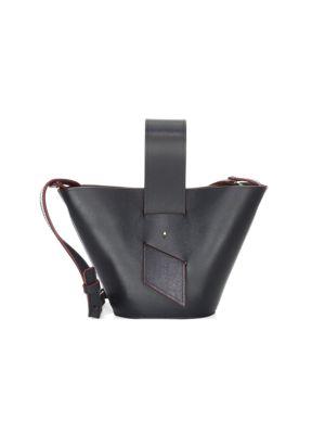 CAROLINA SANTO DOMINGO | Mini Amphora Leather Bucket Bag | Goxip