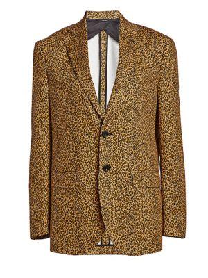 Leopard-Print Boyfriend Blazer