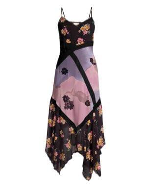 Coach 1941 Mix-Print Midi Slip Dress