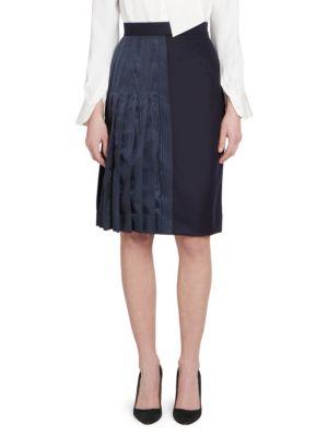 Half-Pleated A-line Skirt