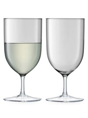Hint Slate Water Two-Piece Wine Glass Set