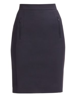 Zip Pocket Pencil Skirt