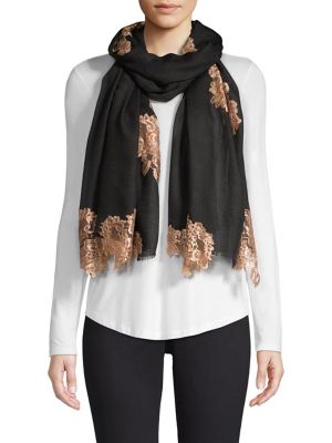 Evening Lace Wool & Silk Scarf