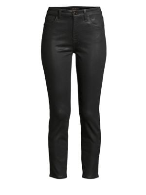JEN7 BY 7 FOR ALL MANKIND Slim-Fit Coated Ankle Skinny Jeans