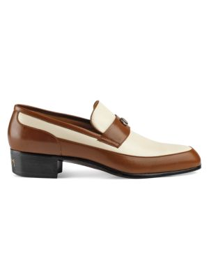 LEATHER LOAFER WITH GUCCI TEAM MOTIF