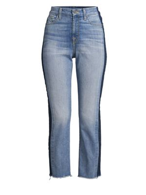 JEN7 BY 7 FOR ALL MANKIND Faded Skinny Jeans