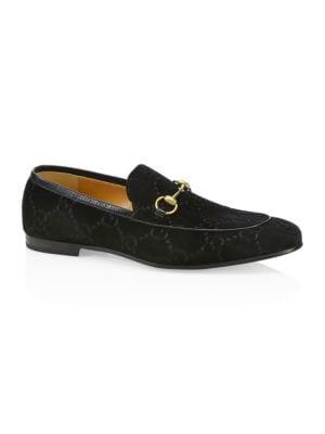 GUCCI Gucci Jordaan GG Velvet Loafer