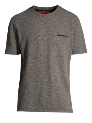 HUGO BOSS Delott Oversized-Fit Geometric Knit Tee