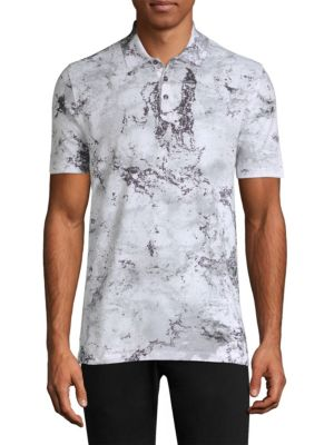 HUGO BOSS Snow Camo Cotton Polo