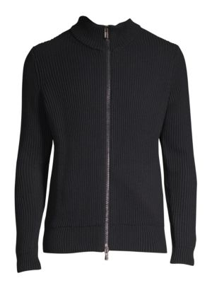 HUGO BOSS Sambre Ribbed Zip Sweater