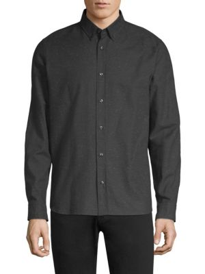 HUGO BOSS Ermann Flecked Woven Cotton Shirt