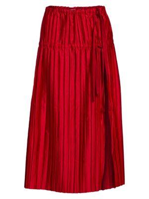 TRE BY NATALIE RATABESI Minerva Silk Charmeuse Midi Skirt