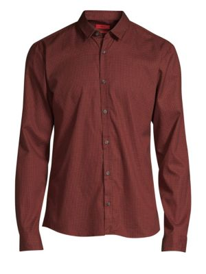 HUGO BOSS Extra Slim-Fit Ero Micro-Print Woven Shirt