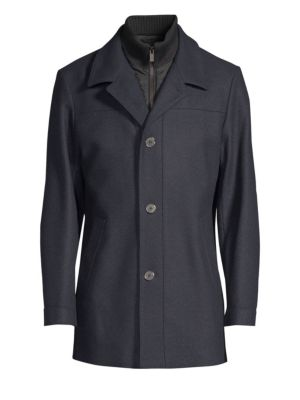 HUGO BOSS Regular-Fit Barelto Wool-Blend Trench Coat