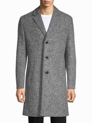 HUGO BOSS Malte Twill Structure Overcoat