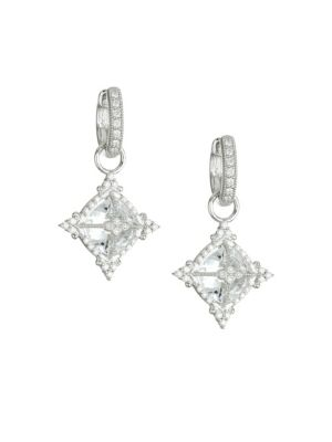 JUDE FRANCES Provence Diamond & 18K White Gold Drop Earrings
