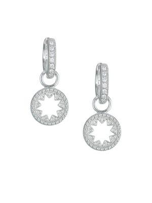 JUDE FRANCES Lisse Diamond & 18K White Gold Kite Charm Earrings