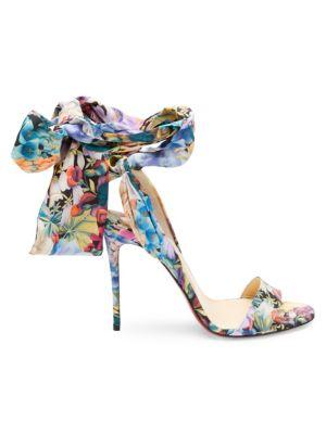 Sandale Du Desert 100 Floral Satin Bow Sandals