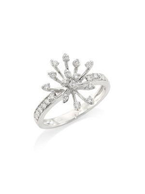 HUEB Luminus 18K White Gold & Diamond Prong Ring