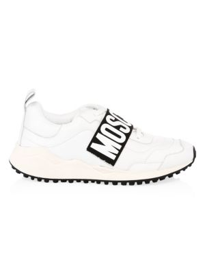 Leather Logo Strap Dad Sneakers