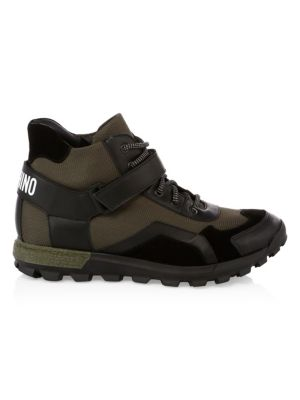 High-Top Chunky Strap Logo Sneakers