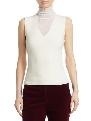 Faux Double Layer Wool Shell by Theory