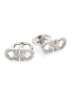 Crystal Gancio Double Gancini Cufflinks