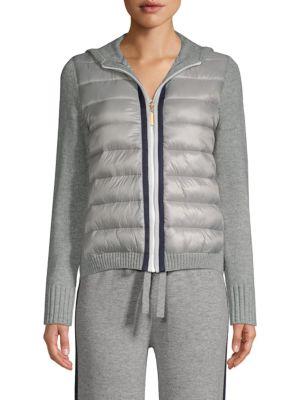 ESCADA SPORT Silvala Hooded Knitted Puffer Jacket