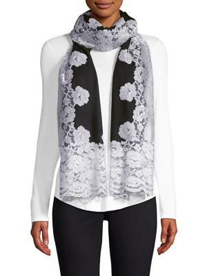 Cashmere & Silk Evening Lace Shawl