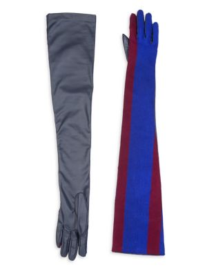 Long Striped Gloves