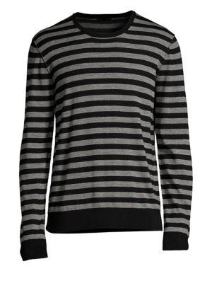 ATM ANTHONY THOMAS MELILLO Merino Wool Long-Sleeve Stripe Sweater