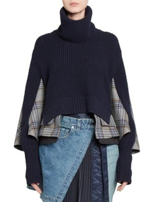 Glen Check Knit Combo Sweater
