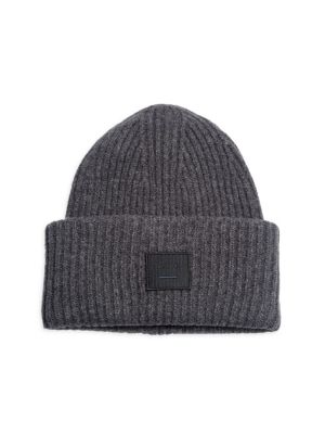 Pansy L Ribbed Wool Beanie