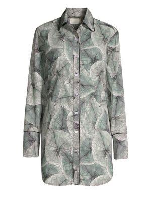 MAISON DU SOIR Sam Palm-Leaf Sleep Shirt