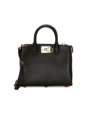 Mini The Studio Rainbow Interior Leather Top Handle Bag