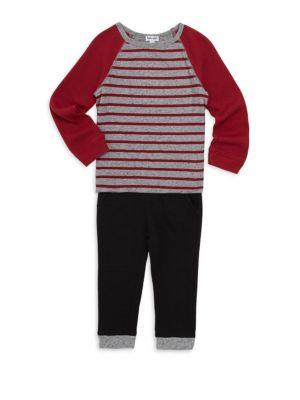 Baby Boy's Two-Piece Stripe Raglan Set